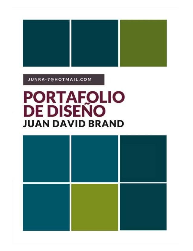 PORTAF, .0L| O DE DISENO  JUAN DAVID BRAND