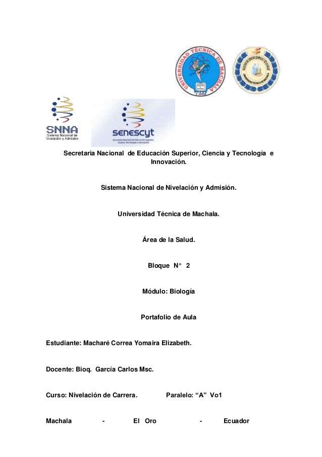 Secretaria Nacional de Educación Superior, Ciencia y Tecnología e Innovación. Sistema Nacional de Nivelación y Admisión. U...