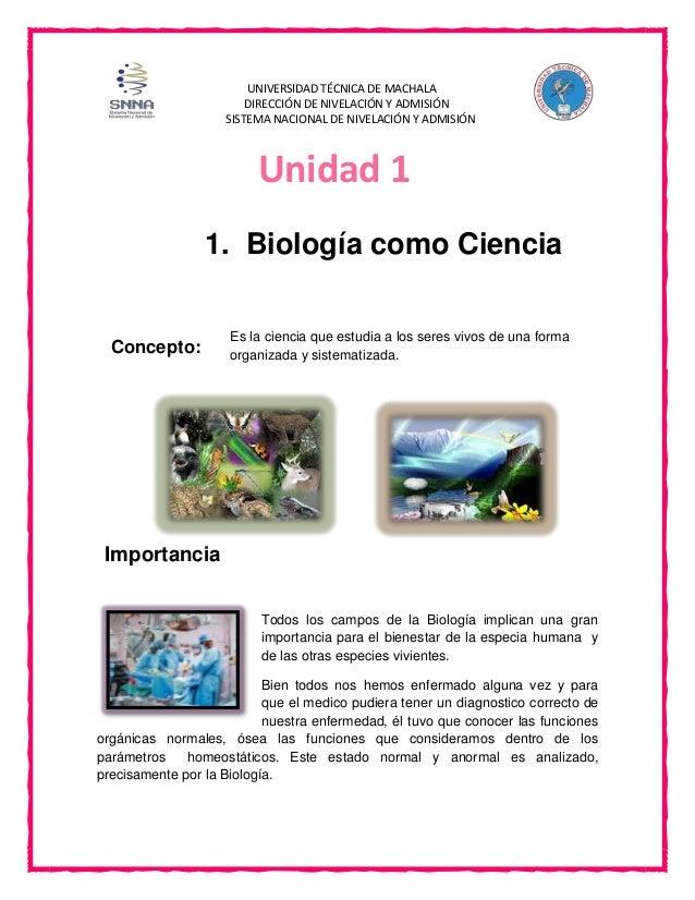 UNIVERSIDAD TÉCNICA DE MACHALA DIRECCIÓN DE NIVELACIÓN Y ADMISIÓN SISTEMA NACIONAL DE NIVELACIÓN Y ADMISIÓN Es la ciencia ...