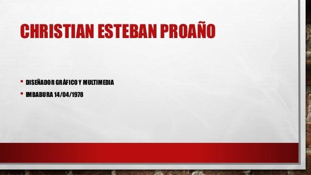 Portafolio de Diseno grafico - Christian Esteban Proano Slide 2