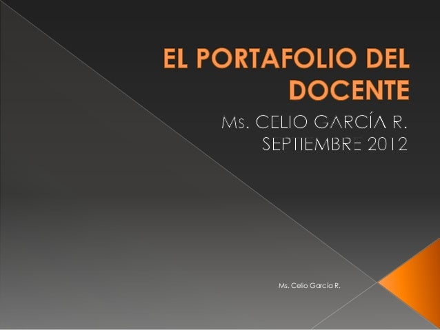 Ms. Celio García R.