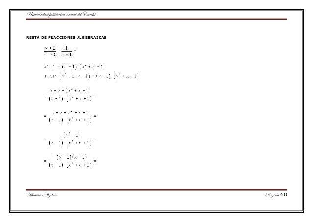 Portafolio del modulo de algebra