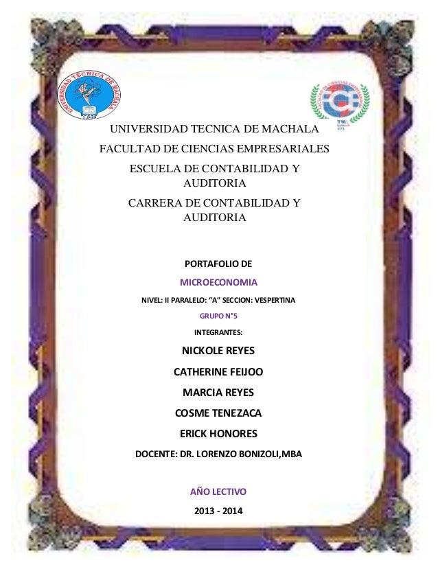 UNIVERSIDAD TECNICA DE MACHALA FACULTAD DE CIENCIAS EMPRESARIALES ESCUELA DE CONTABILIDAD Y AUDITORIA CARRERA DE CONTABILI...