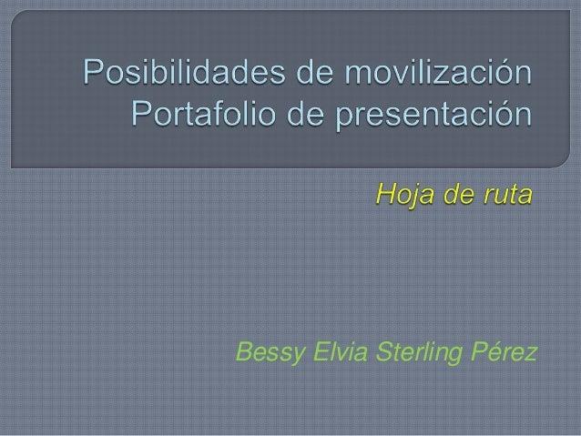 Bessy Elvia Sterling Pérez