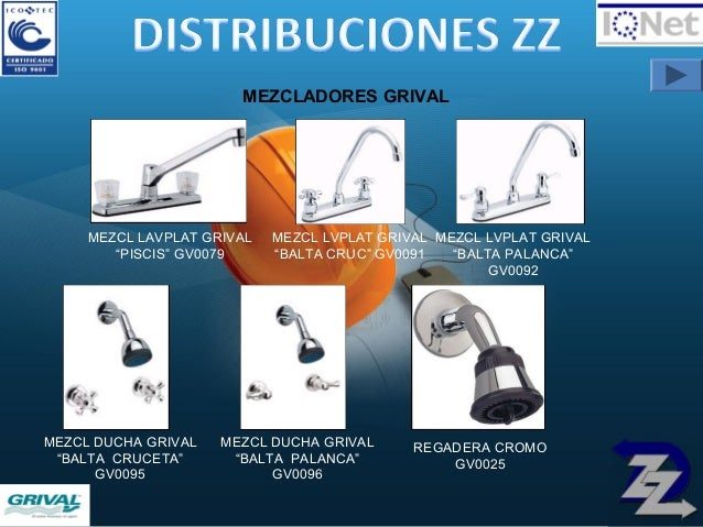 Portafolio de productos for Mezclador ducha grival