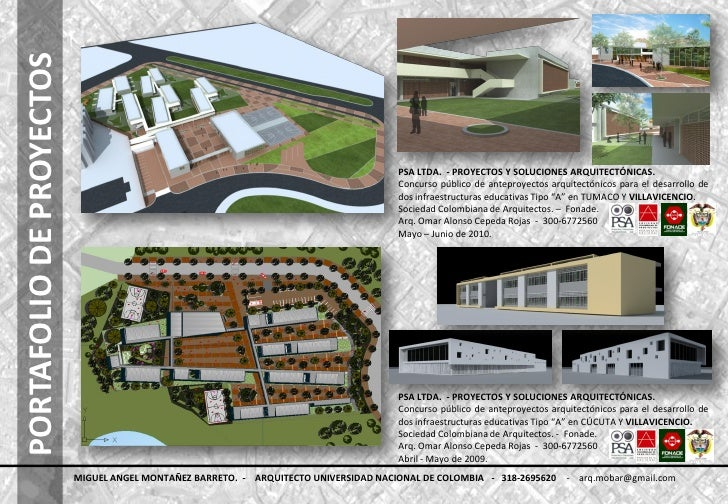 Portafolio de proyectos 2011 for Proyecto arquitectonico pdf