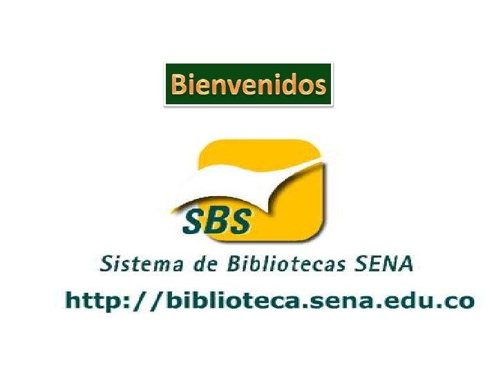 Portafolio de servicio del sistema de bibliotecas sena