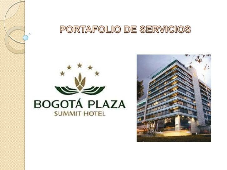 Ficha técnicaNombre del Hotel                                         Bogotá Plaza Summit Hotel   Dirección               ...