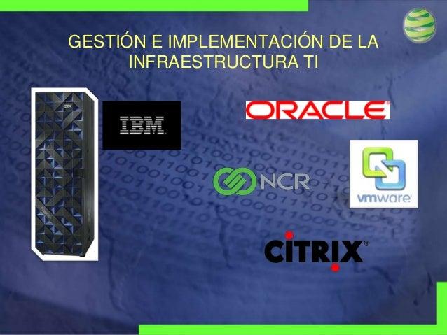 GESTIÓN E IMPLEMENTACIÓN DE LA INFRAESTRUCTURA TI  Visionary Technologies Group