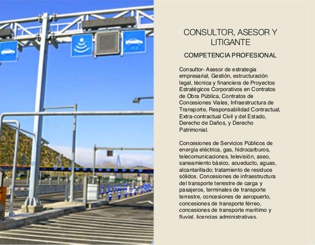 COMPETENCIA PROFESIONAL Consultor- Asesor de estrategia empresarial, Gestión, estructuración legal, técnica y financiera de...