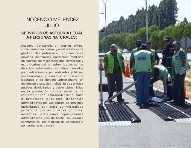 SERVICIOS DE ASESORIA LEGAL A PERSONAS NATURALES: Asesoría, Consultoría en asuntos civiles, comerciales, financieras y adm...