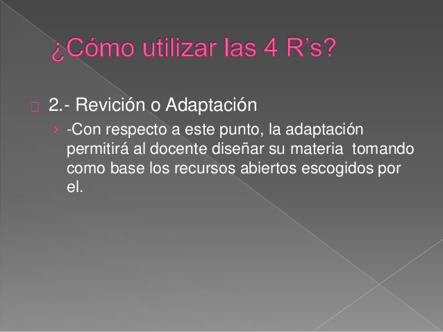 """4.- Redistorción  › -A mi punto de vista muy particular, considero  este """"R"""" como la más importante puesto que la  educaci..."""