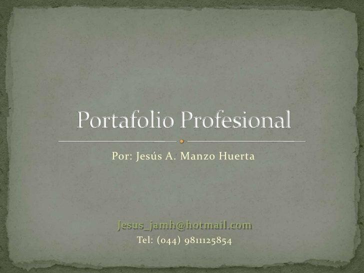 Por: Jesús A. Manzo Huerta      Jesus_jamh@hotmail.com     Tel: (044) 9811125854
