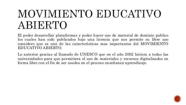 Movimiento Educativo Abierto Portafolio diagnostico Slide 3