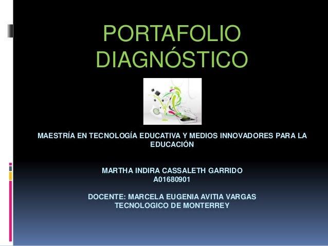 MAESTRÍA EN TECNOLOGÍA EDUCATIVA Y MEDIOS INNOVADORES PARA LA EDUCACIÓN MARTHA INDIRA CASSALETH GARRIDO A01680901 DOCENTE:...