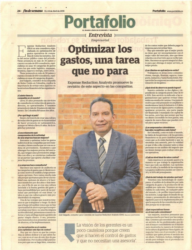 Optimizar los gastos no para entrevista