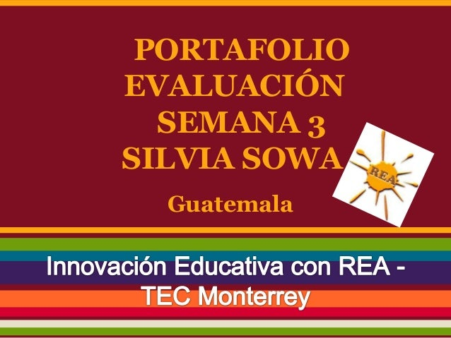 PORTAFOLIO EVALUACIÓN SEMANA 3 SILVIA SOWA - Guatemala