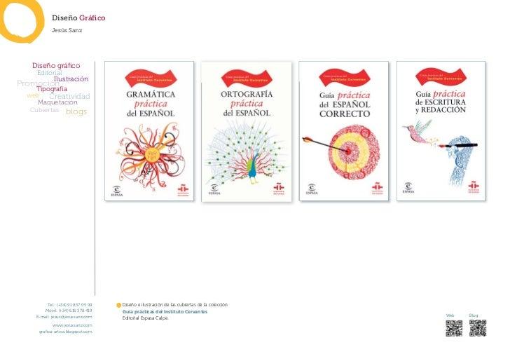 Diseño Gráfico            Jesús Sanz   Diseño gráfico    Editorial             IlustraciónPromoción    Tipografía web Creati...