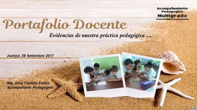 Portafolio Docente, Evidencias de nuestra práctica pedagógica