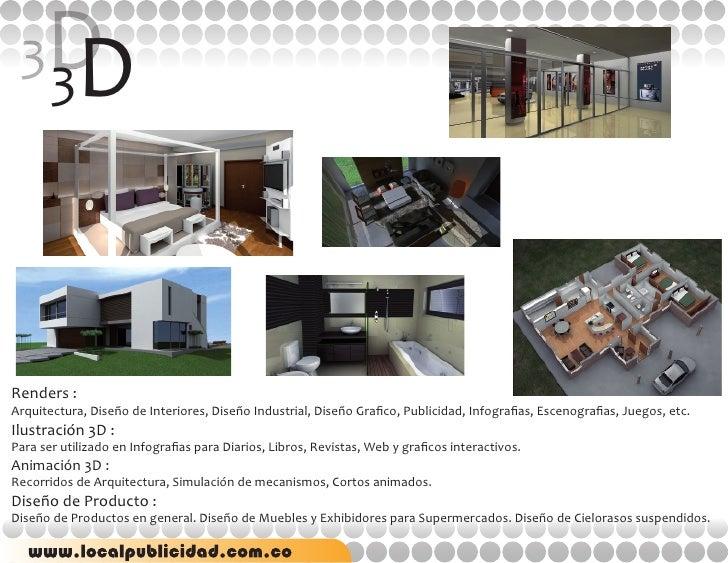 Portafolio local publicidad for Diseno de interiores pdf