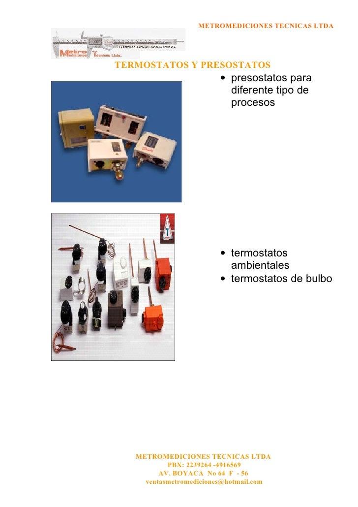 Portafolio metromediciones 2 6 for Clases de termostatos
