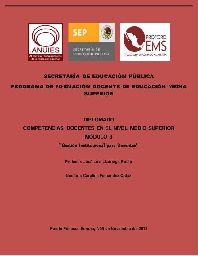DIPLOMADO COMPETENCIAS DOCENTES EN EL NIVEL MEDIO SUPERIOR MODULO 3  3  SECRETARÌA DE EDUCACIÒN PÙBLICA  PROGRAMA DE FORMA...