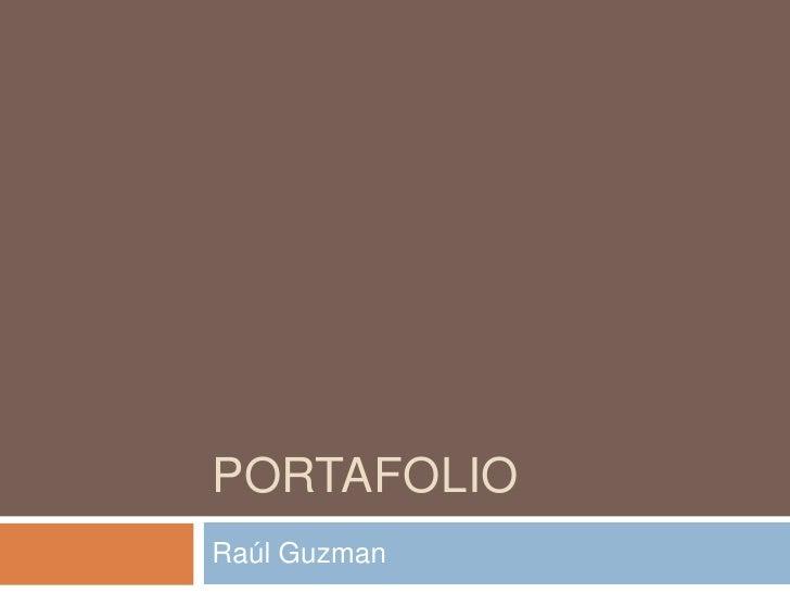 Portafolio<br />Raúl Guzman<br />
