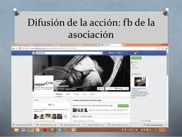 Difusión de la acción: fb de la  asociación