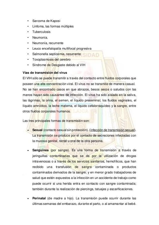 Salud publica - Liquido preseminal vih casos ...