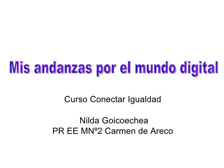 Curso Conectar Igualdad Nilda Goicoechea PR EE MNº2 Carmen de Areco Mis andanzas por el mundo digital