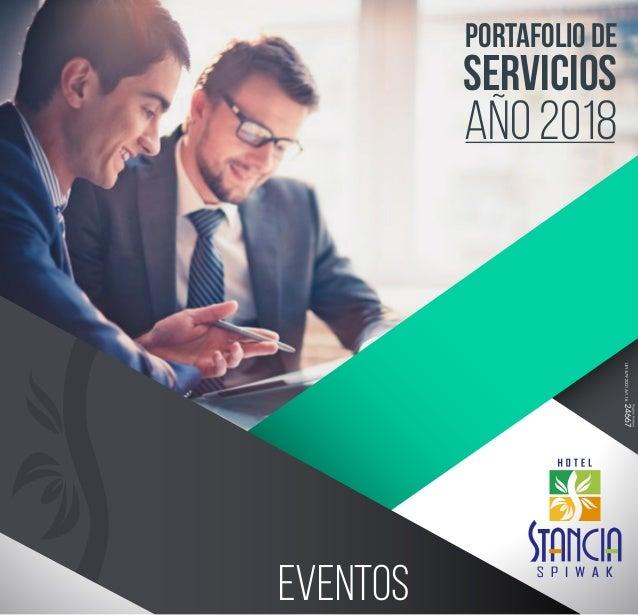 PORTAFOLIO DE SERVICIOS año 2018 eventos