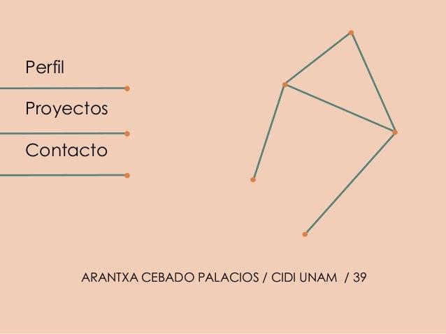 PerfilProyectosContacto         ARANTXA CEBADO PALACIOS / CIDI UNAM / 39