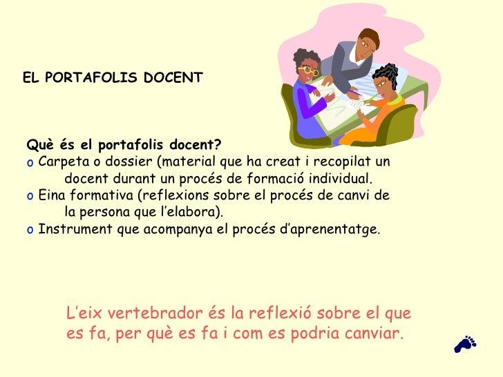EL PORTAFOLIS DOCENT   <ul><li>Què és el portafolis docent? </li></ul><ul><li>Carpeta o dossier (material que ha creat i r...