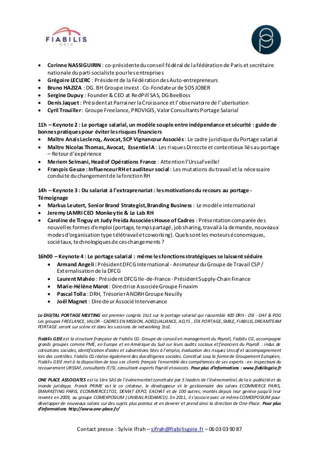 Portage salarial   digital portage meeting 07122016 Slide 2