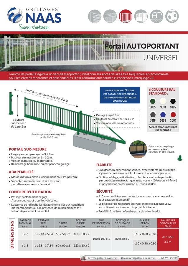 kit portail autoportant portail autoportant 3000mm kit 1. Black Bedroom Furniture Sets. Home Design Ideas