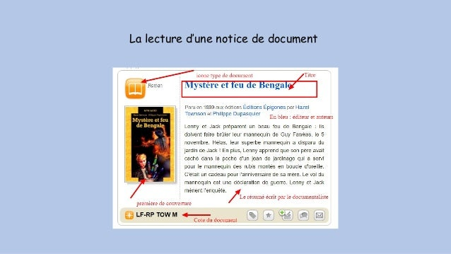 La lecture d'une notice de document