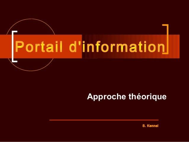 Approche théorique S. Kennel