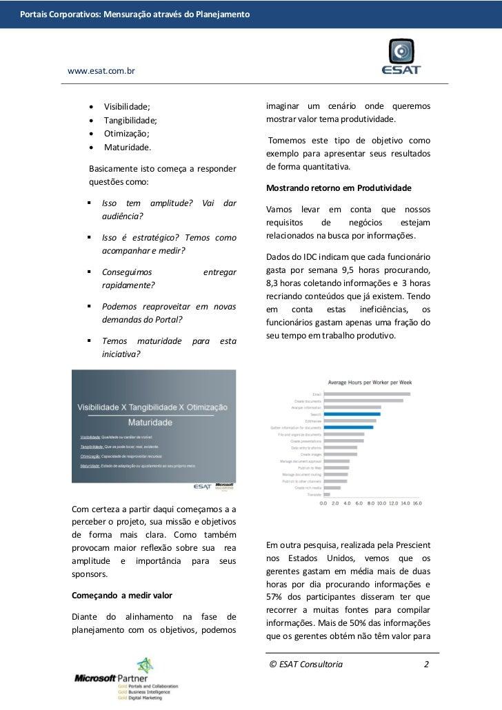 Portais corporativos: Mensuração através do planejamento. Slide 2