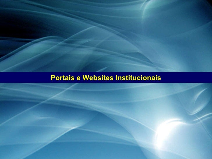 Portais e Websites Institucionais