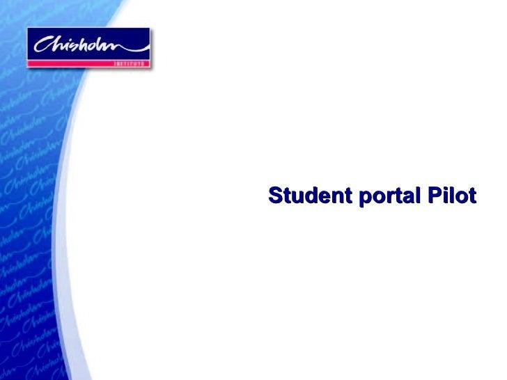 Student portal Pilot