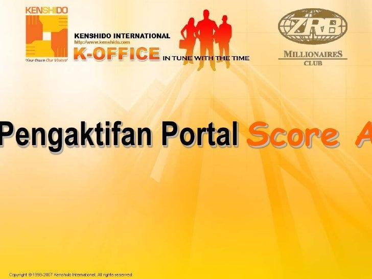 Pengaktifan Portal Score A