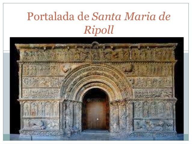 Portalada de Santa Maria de Ripoll