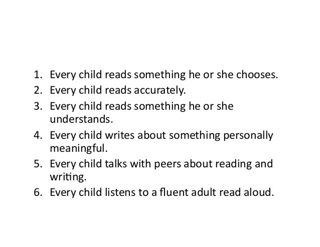 1. Everychildreadssomethingheorshechooses. 2. Everychildreadsaccurately. 3. Everychildreadssomethinghe...
