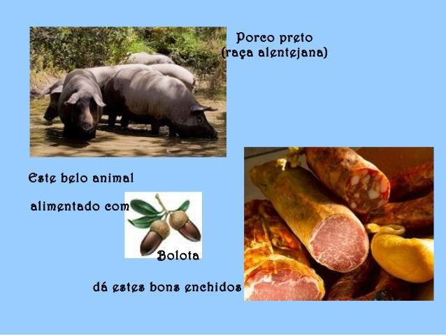 Bolota dá estes bons enchidos Este belo animal alimentado com Porco preto (raça alentejana)
