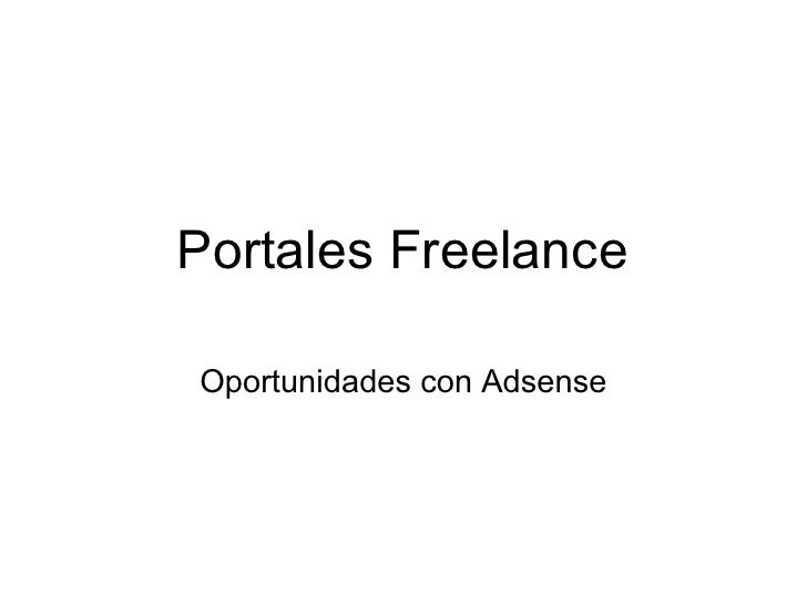 Portales Freelance  Oportunidades con Adsense