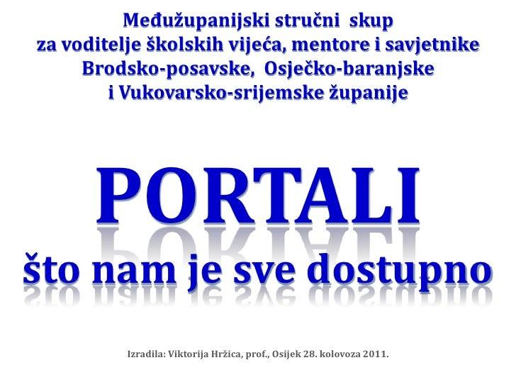 Međužupanijski stručni  skup za voditelje školskih vijeća, mentore i savjetnike Brodsko-posavske,  Osječko-baranjske i Vuk...