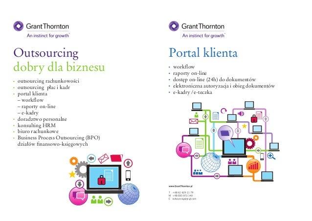 outsourcing rachunkowości  outsourcing płac i kadr  portal klienta  – workflow  – raporty on-line  – e-kadry  doradz...