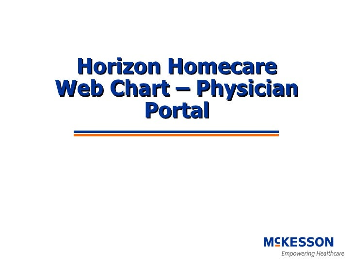 Horizon Homecare Web Chart – Physician Portal