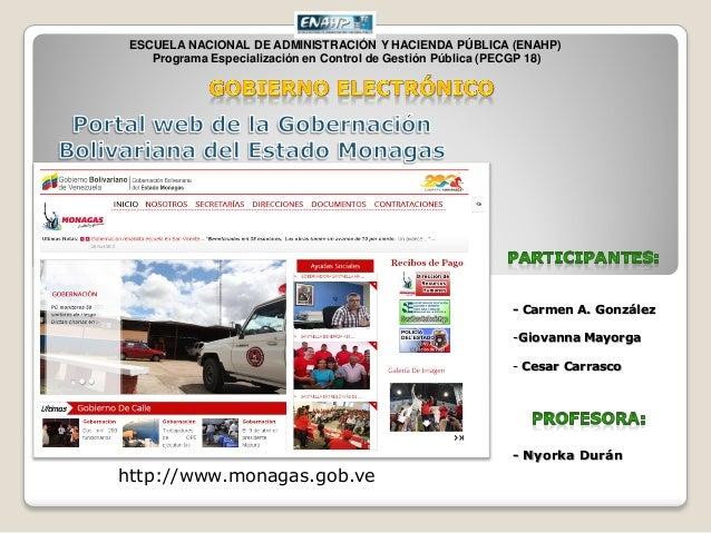 ESCUELA NACIONAL DE ADMINISTRACIÓN Y HACIENDA PÚBLICA (ENAHP) Programa Especialización en Control de Gestión Pública (PECG...