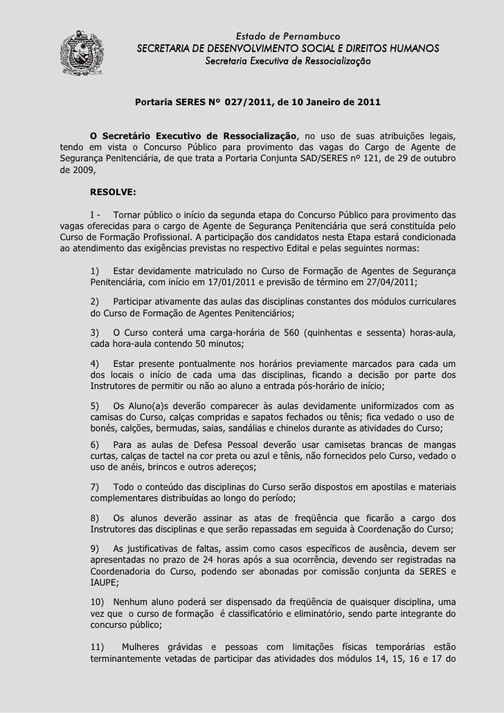 Estado de Pernambuco                   SECRETARIA DE DESENVOLVIMENTO SOCIAL E DIREITOS HUMANOS                            ...